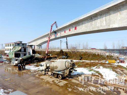 郑(州)合(肥)高铁沈丘段沈界1号特大桥顺利浇筑完成