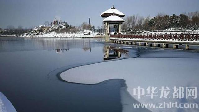 雪后周口公园分外美