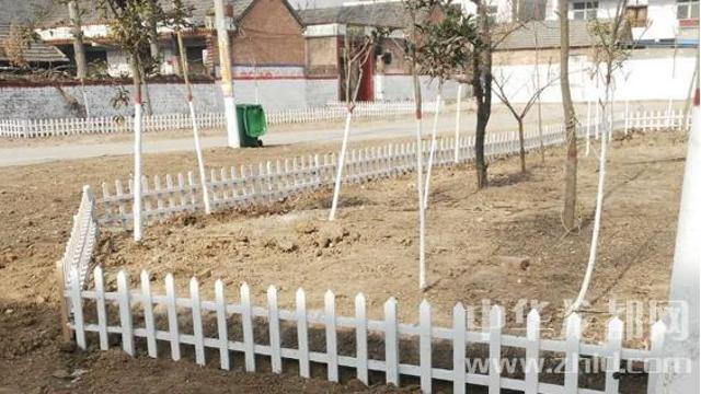 周口郸城村民变废旧木板为道路栅栏