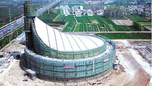 投资1.5亿元的淮阳县体育馆5月亮相