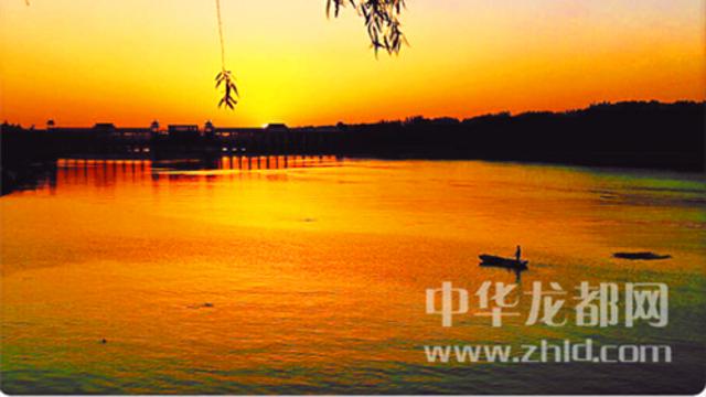 沙颍河畔 夕阳无限好