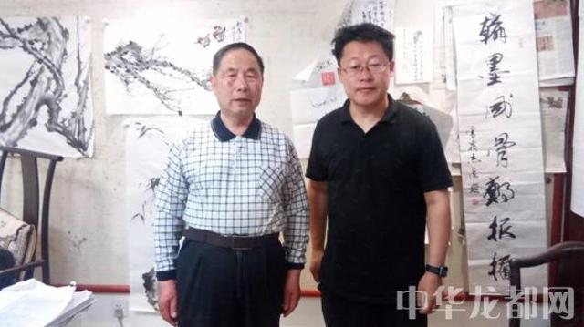 周口市作家张恩岭受邀参观张伯驹诞辰120周年纪念展