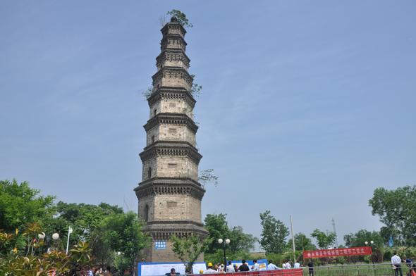 商水寿圣寺塔开工修缮