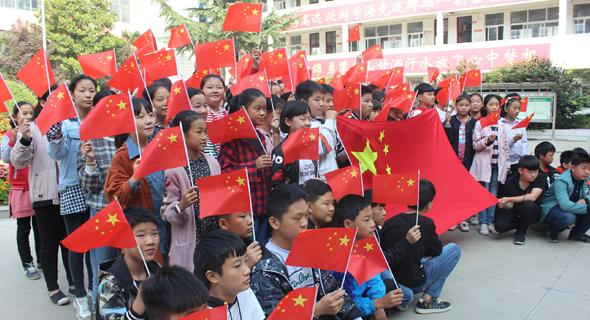 """郸城县社会各界开展""""中国红庆国庆""""庆祝活动"""