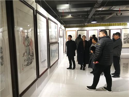 周口报业传媒集团庆祝改革开放40周年书画展开幕