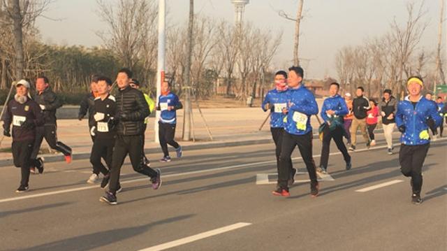 周口:健身跑 迎新年