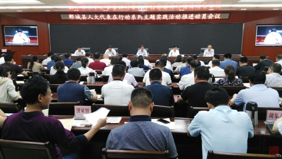 """郸城县召开""""人大代表在行动""""系列主题活动推进动员会"""