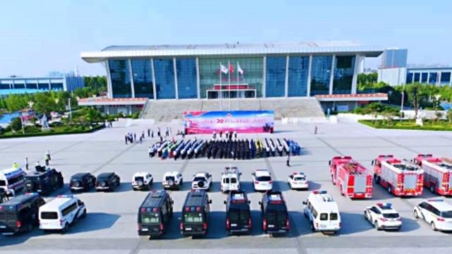 周口市举行新中国成立70周年大庆安保反恐应急拉动演练