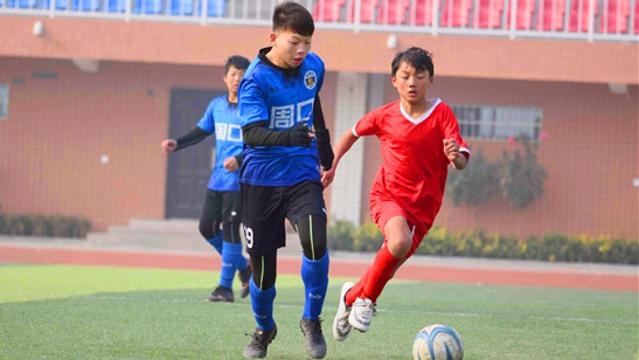 2019年周口市青少年冬季足球联赛初中组比赛落幕