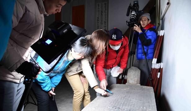 日本制作纪录片《朱元璋:治隆唐宋的君主》来周拍圣旨碑