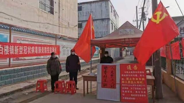[淮阳]白楼:党旗引领勇冲锋 众志成城战疫情