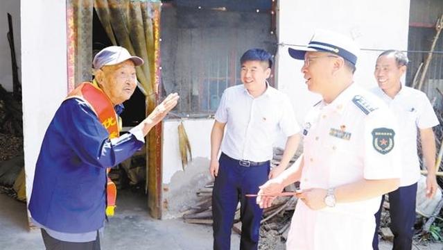 郸城:慰问抗战老兵 传承革命精神