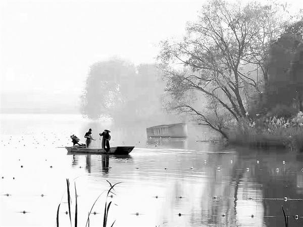 龙湖冬景美如画