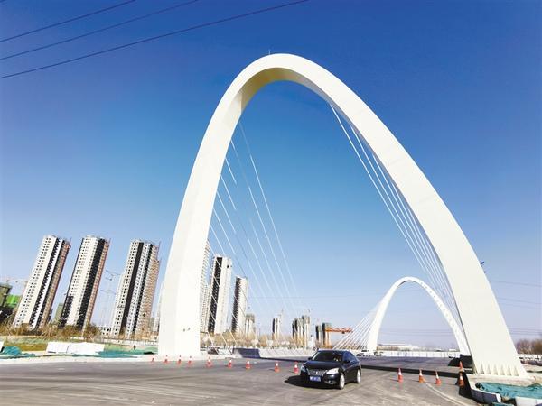 流沙河松花江路桥主体工程基本完工