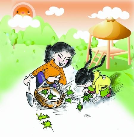 插图 李庆琦 利用春节将传统文化传授到底