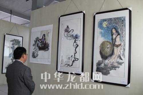 周口书画名家作品邀请展举行开幕式