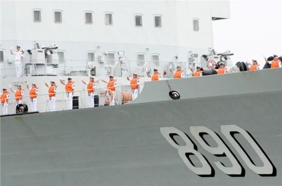中国海军护航编队访问马来西亚