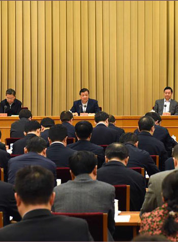 """""""两学一做""""学习教育工作座谈会在京召开 刘云山出席并讲话"""