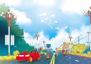 子原创漫画描绘家乡巨变