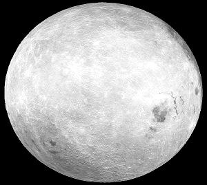 首幅全月球三维立体图制成