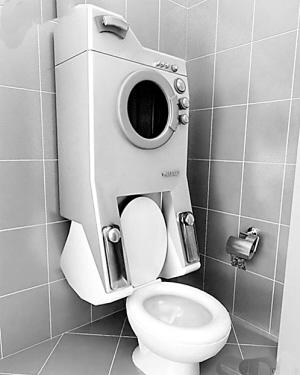 厕所马桶的结构图