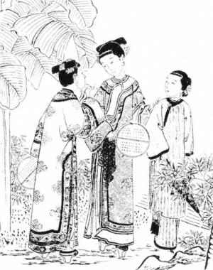 铅笔画古代女子发型展示