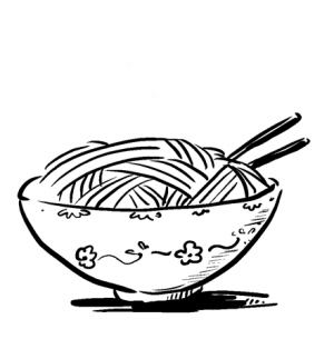 一碗面条卡通图片,一碗面条的热量是多少,一碗面条简笔画-桌面面
