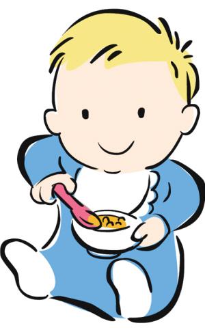 婴儿辅食矢量图